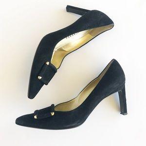 St. John Velvet Pointed Toe Heels